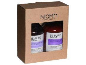 NIAMH Be Pure SET Protective Shampoo 500ml +  Protective Mask 500ml - péče na barvené vlasy