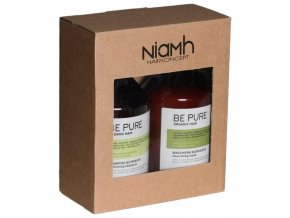 NIAMH Be Pure SET Nourishing Shampoo 500ml + Nourishing Mask 500ml - péče na jemné vlasy