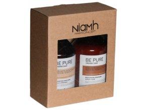 NIAMH Be Pure SET Restore Shampoo 500ml + Restore Mask 500ml - péče na poškozené vlasy