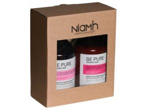 NIAMH Be Pure SET Hair Fall Shampoo 500ml + Hair Fall Mask 500ml - péče proti padání vlasů