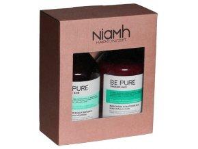 NIAMH Be Pure SET Scalp Shampoo 500ml + Scalp Mask 500ml - péče na citlivou pokožku hlavy