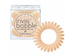 INVISIBOBBLE Hair Ring Nude 3ks - Spirálová gumička na vlasy - béžová