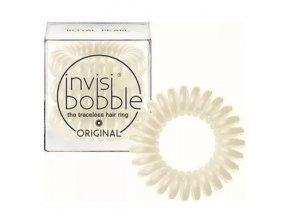 INVISIBOBBLE Hair Ring Royal Pearl 3ks - Spirálová gumička na vlasy - perleťová