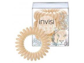 INVISIBOBBLE Hair Ring Queen Of The Jungle 3ks - Spirálová gumička na vlasy - béžová
