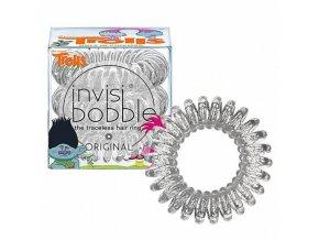 INVISIBOBBLE Hair Ring Trolls 3ks - Spirálová gumička - čirá s glitrami
