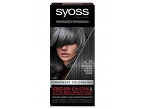 SYOSS Professional Permanentní barva na vlasy Dusty Chrome - popelavý chrom 4-15