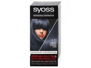 SYOSS Professional Permanentní barva na vlasy - uhlově stříbrný 3-51