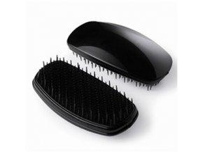 DETANGLER Soft Profesionální kartáč pro snadné rozčesávání jemných vlasů - černý