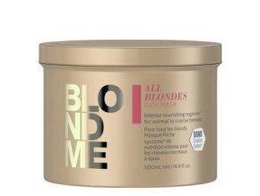SCHWARZKOPF BlondMe All Blondes Rich Mask 500ml - regenerační maska pro blond vlasy