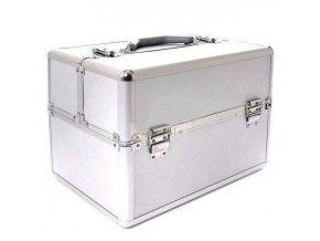 SALON Komplet Kosmetický ALU kufr dvoustranný - hliník