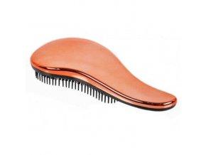 SIBEL Copper Dtangler Rozčesávací kartáč na vlasy s rukojetí - měděný