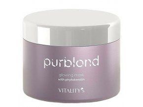 VITALITYS Purblond Glowing Mask 200ml - keratinová maska pro studenou blond vlasů
