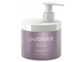 VITALITYS Purblond Glowing Mask 450ml - keratinová maska pro studenou blond vlasů