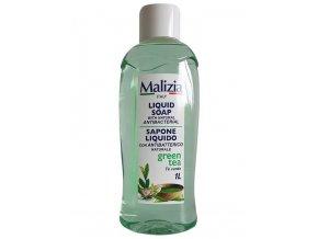 MALIZIA Liquid Soap Antibacterial Green Tea 1000ml - antibakteriální tekuté mýdlo