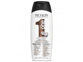REVLON Uniq One Coconut All In One Shampoo 300ml - vyživující šampon s vůní kokosu