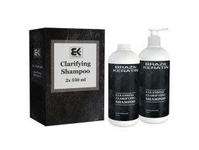 BRAZIL KERATIN Clarifying Shampoo čistící šampon před aplikací brazilského keratinu 2x550ml