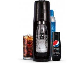 SODASTREAM Pepsi Spirit Black MegaPack výrobník perlivé vody + příchutě