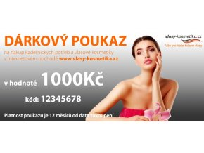 Vlasy Kosmetika CZ Dárkový poukaz 1000