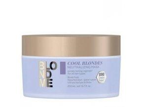 SCHWARZKOPF BlondMe Cool Blondes Neutralizing Mask 200ml - maska pro studené tóny blond vlasů