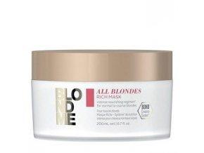 SCHWARZKOPF BlondMe All Blondes Rich Mask 200ml - regenerační maska pro blond vlasy
