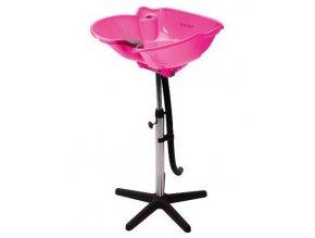 SIBEL Angels Bay PINK kadeřnická mycí mísa na stojanu - přenosná, růžová