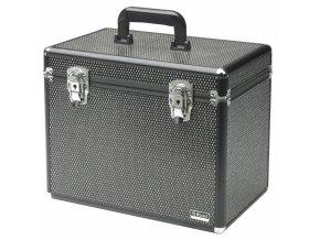 SIBEL 0150591 Kadeřnický a kosmetický kufr - černý s kamínky