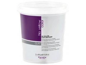 FANOLA No Yellow Clay Lightener 2x450g - odbarvovací prášek s jílem pro zesvětlení až o 7 tónů