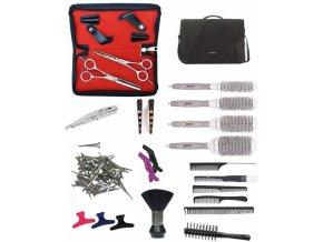 SET Brašna TL39 Kadeřnický set pro učně - textilní brašna s vybavením pro praváky