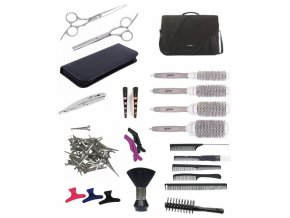SET Brašna BK10 Kadeřnický set pro učně - textilní brašna s vybavením pro praváky