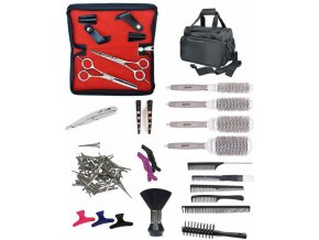 SET Taška TL39 Kadeřnický set pro učně - textilní taška s vybavením pro praváky