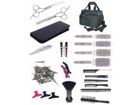 SET Taška BK10 Kadeřnický set pro učně - textilní taška s vybavením pro praváky