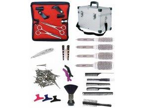 SET Alu kufr TL39 Kadeřnický set pro učně - hliníkový kufr s vybavením pro praváky