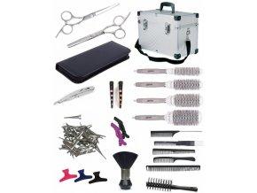 SET Alu kufr BK10 Kadeřnický set pro učně - hliníkový kufr s vybavením pro praváky