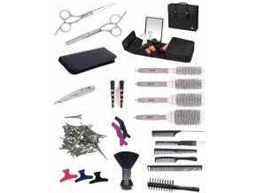 SET Toolcase BK10 Kadeřnický set pro učně - taška se zrcadlem a s vybavením pro praváky