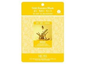 MJ CARE Gold Luxusní pleťová hydratační maska se zlatou esencí proti vráskám