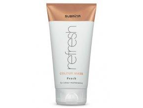 SUBRÍNA Refresh Colour Mask Peach 150ml - vyživující barvicí maska na vlasy - broskvová