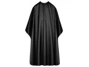 SIBEL Dots Black Kadeřnická pláštěnka na barvení a stříhání vlasů - černá