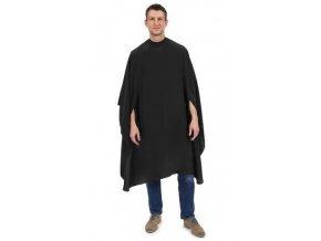 BARBURYS XL Cape For Men - černá pánská pláštěnka na stříhání vlasů - cvočky