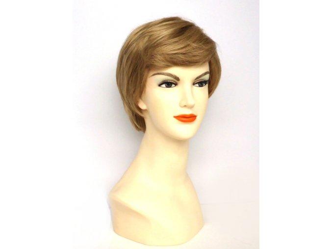 Paruka KATHY z umělých vlasů, barva tmavá blond