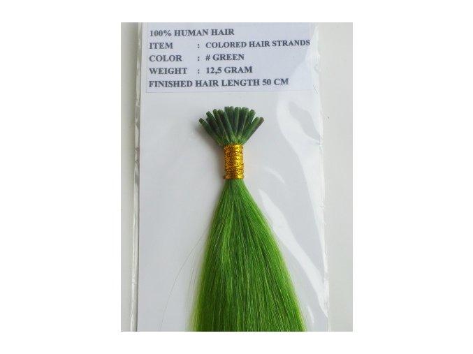 barevné vlasy pramínky