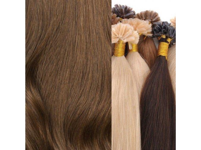 vlasy na keratin hnědá