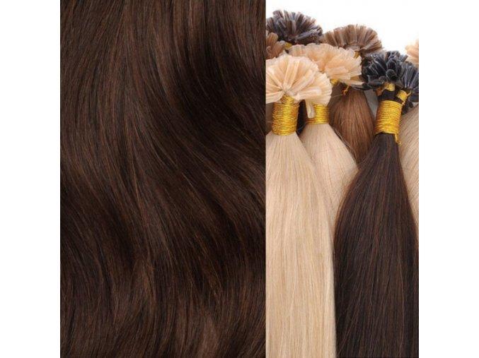 vlasy na keratin hnědá tmavá