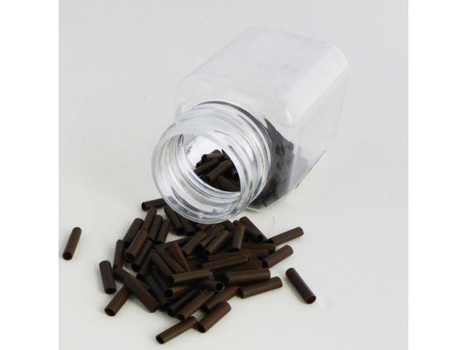 Trubičky PVC na prodlužování vlasů hnědé
