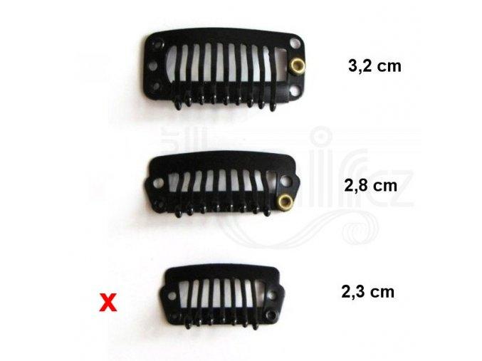 CLIP IN sponky barva černá 2,4 cm.