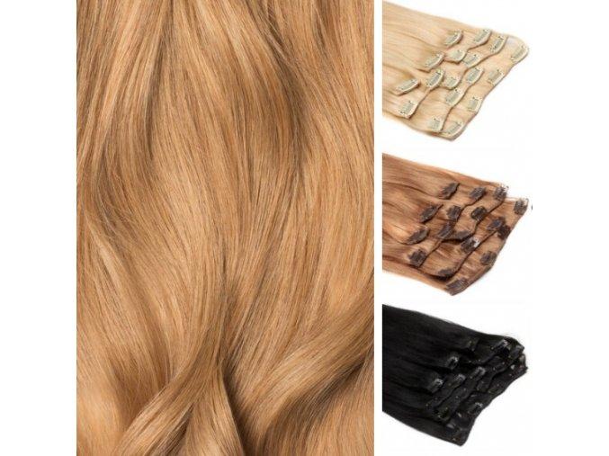 CLIP IN vlasy blond zlatá