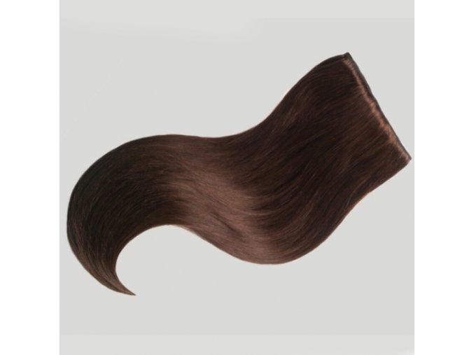 clip in vlasy čokolada 5