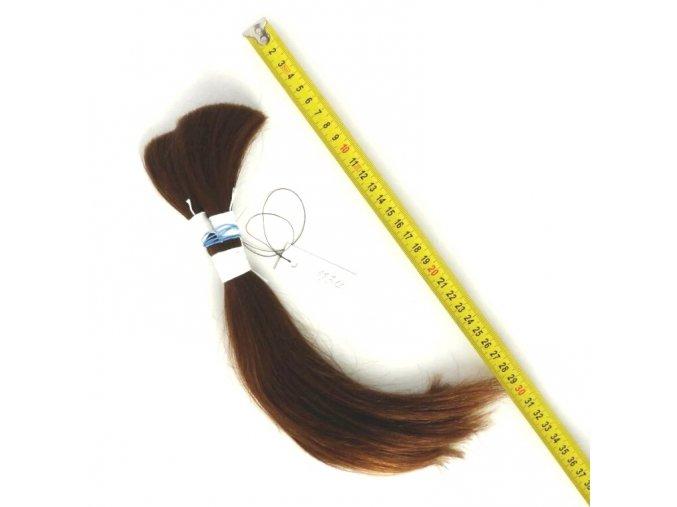 Středoevropské vlasy Výběr, hnědé světlé, 30cm/68gr.