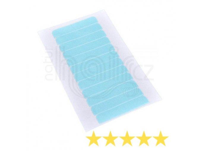 Pásky na prodlužování vlasů - 12 lepicích štítků v balení.