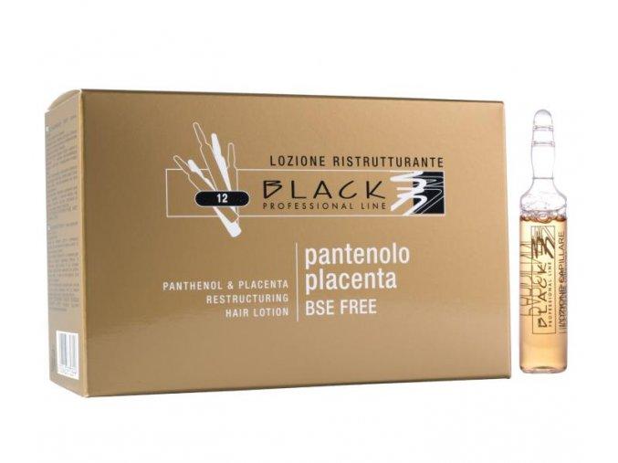 Ampulky k revitalizaci vlasů Black Panthenol