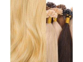 vlasy na keratin blond světlá